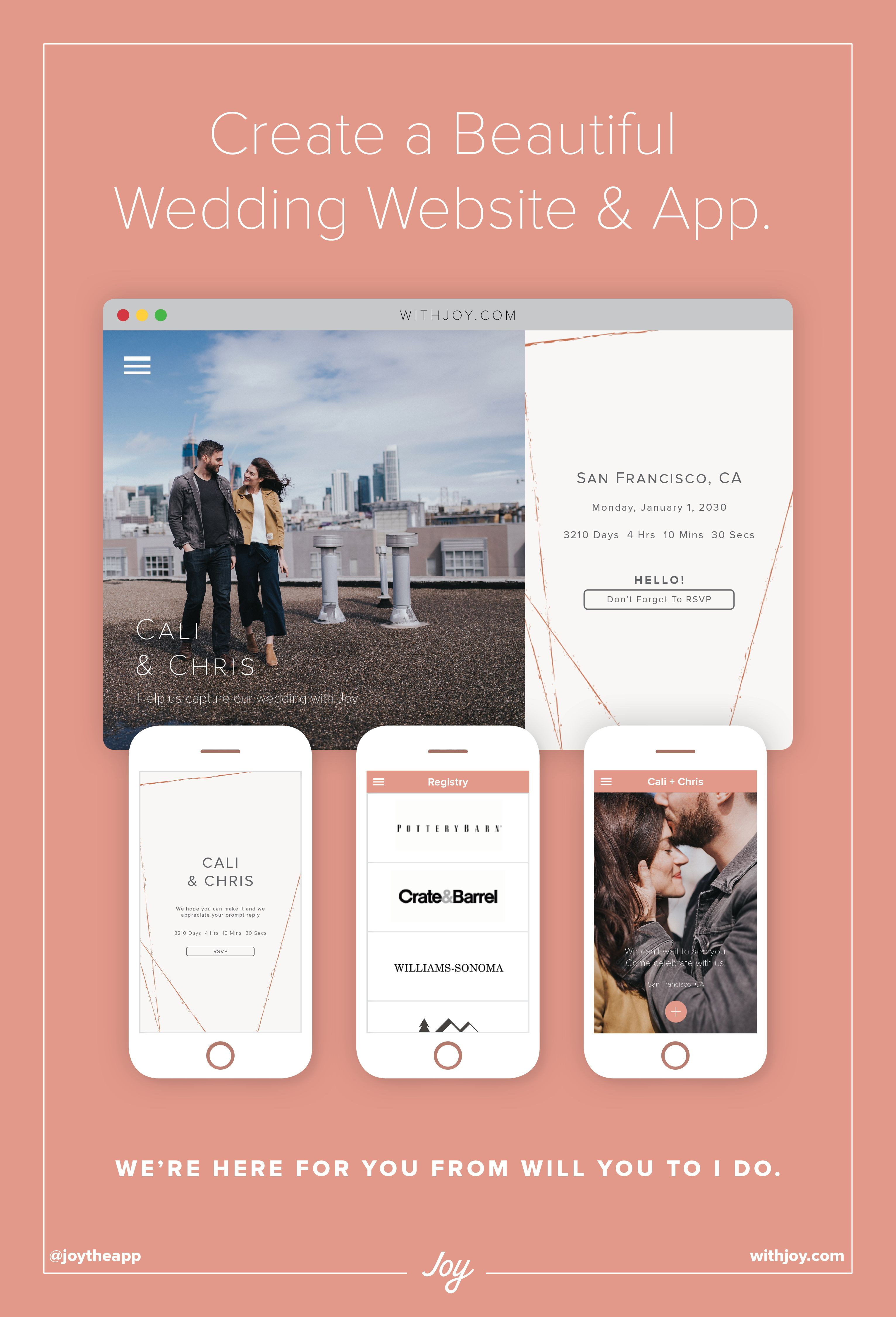 Create A Free Wedding Website And With Joy Withjoy