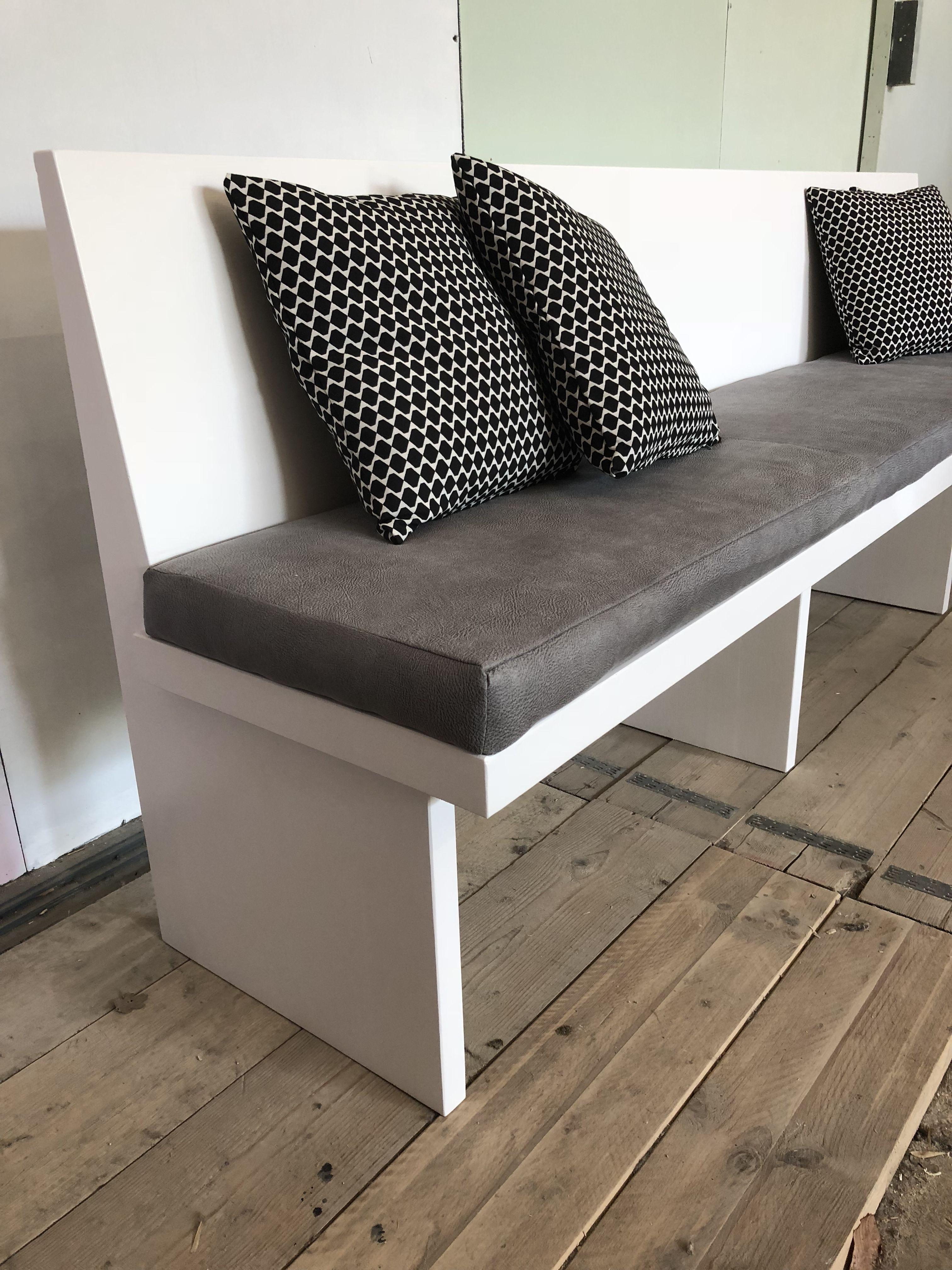 Bank Voor Keukentafel.Strakke Moderne Eettafel Bank Op Maat Gemaakt Stoffering Van