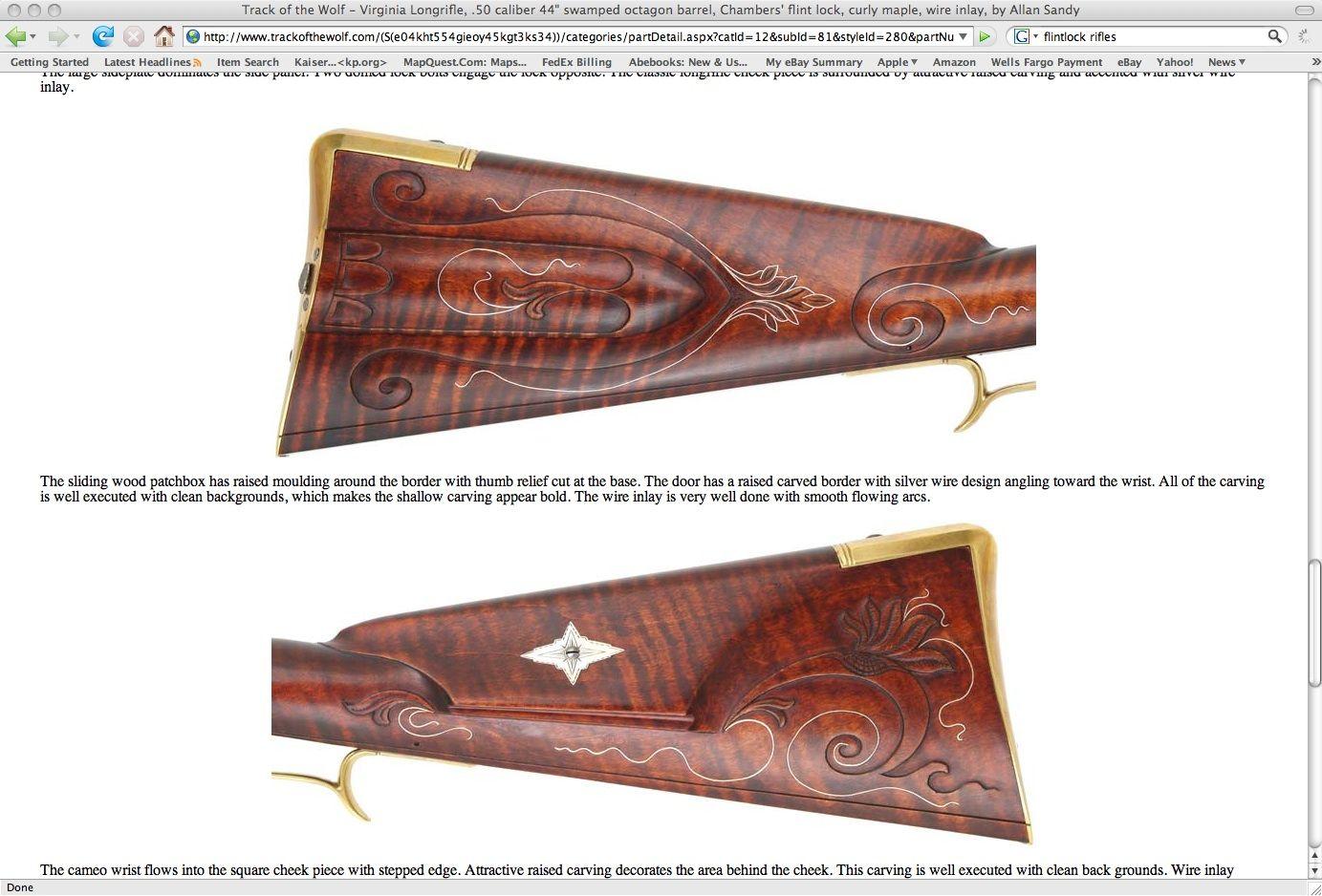Allan Sandy engraving on butt stock | black powder Rifles