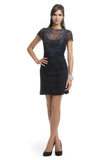 Nanette Lepore Navy Lace Crew Dress Beautiful For An Outdoor Wedding The
