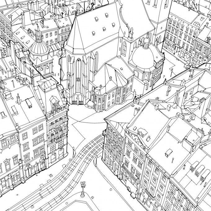Last Year Illustrator And Lifelong Traveler Steve McDonald Wowed Us With His Exquisite Adult Coloring Book Called Fantastic Cities The Nearly 60 Sce