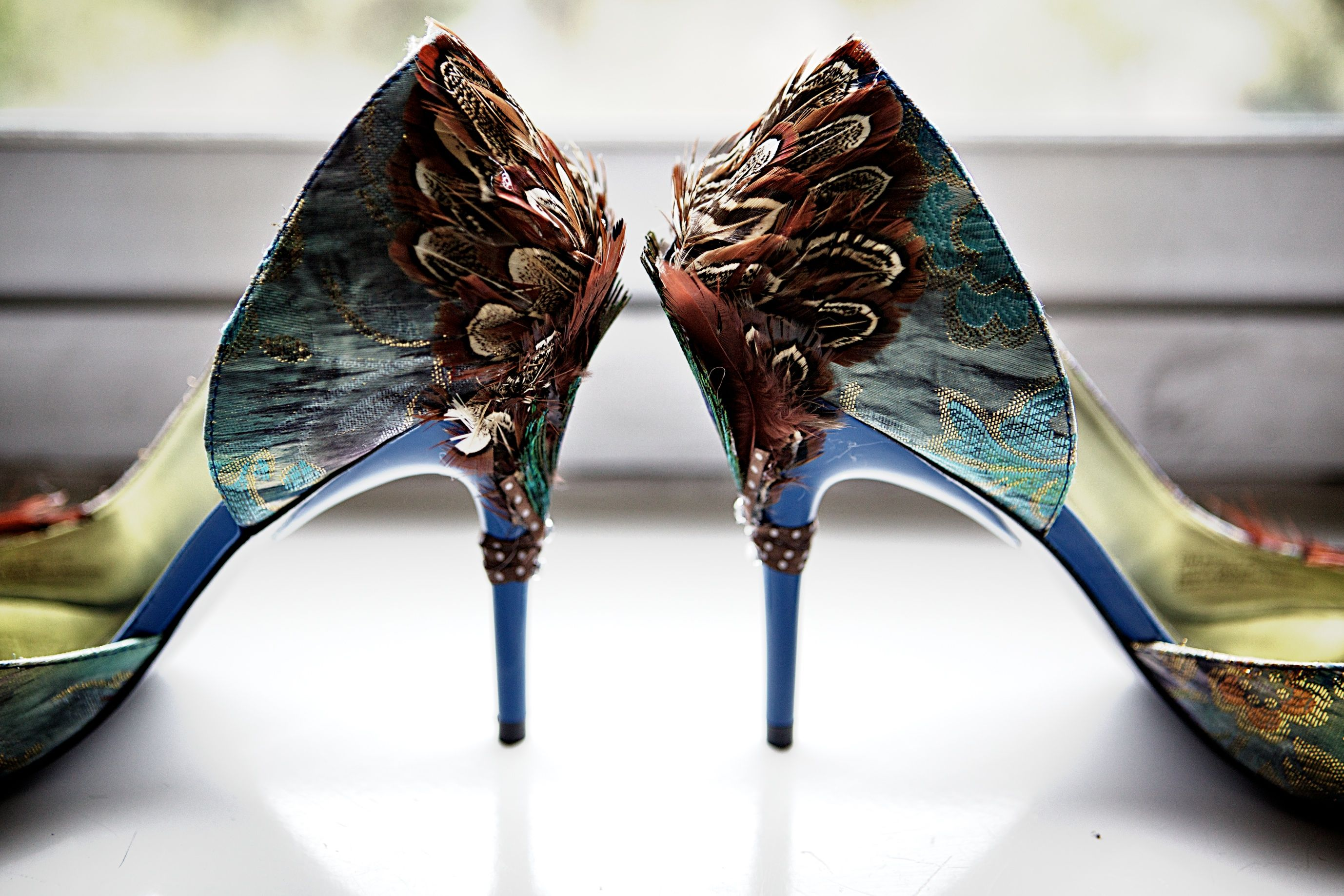 3 These Shoes Peacock Shoes Fairy Shoes Wedding Shoes