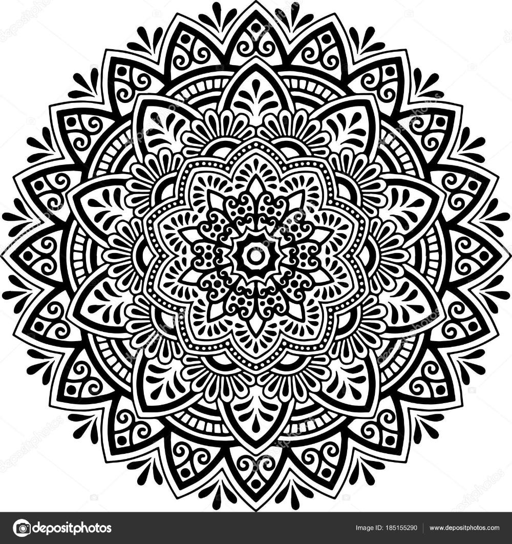 Mandala Muster Schwarz Weiss Stockvektor C Tamsamtam Mandala Muster Schwarz Weiss Muster
