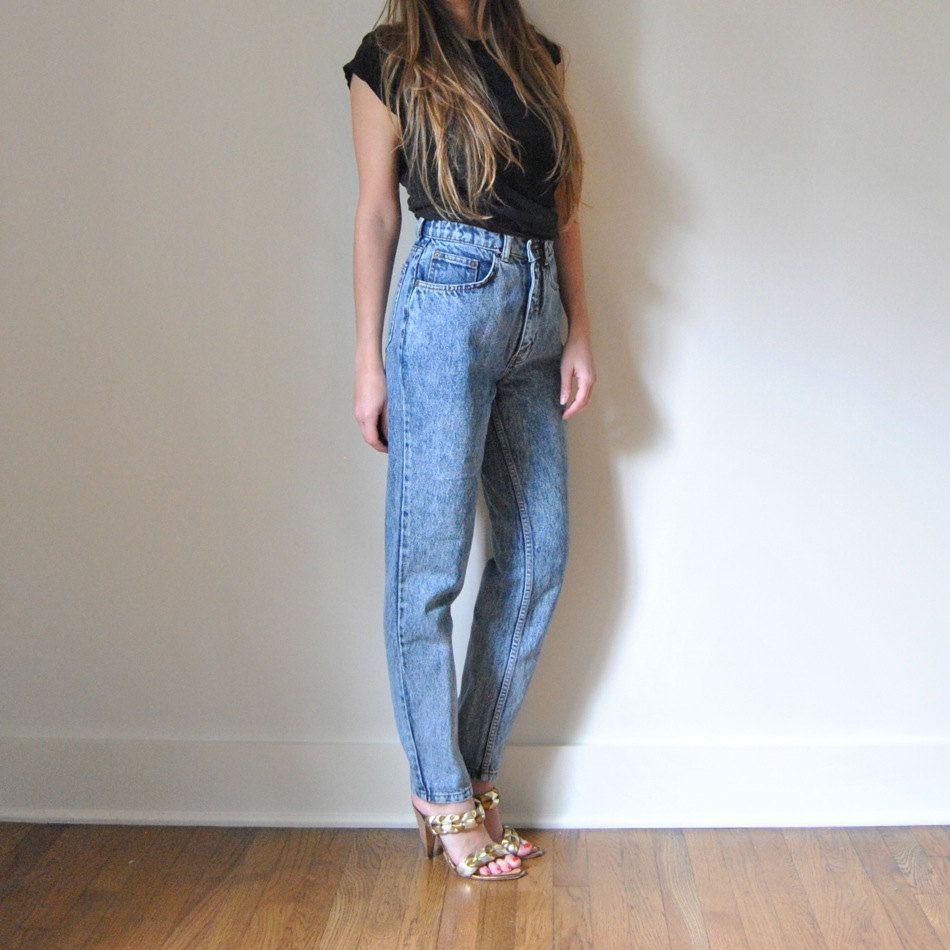 High Waisted Jeans // Vintage High Waist Acid Wash Denim JAG JEANS ...