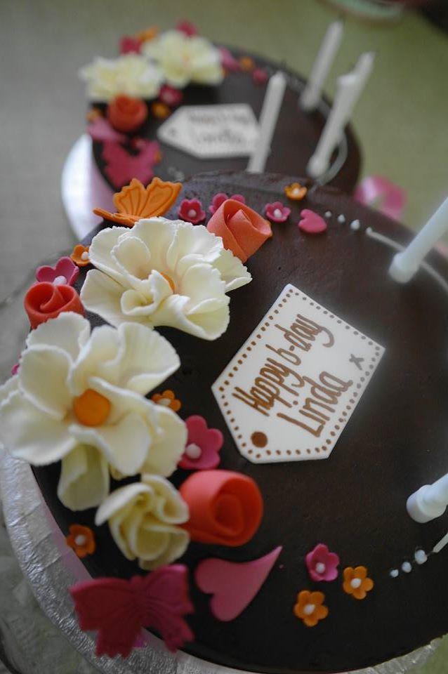 flowerchocolatebirthdaycake Girly cakes Pinterest