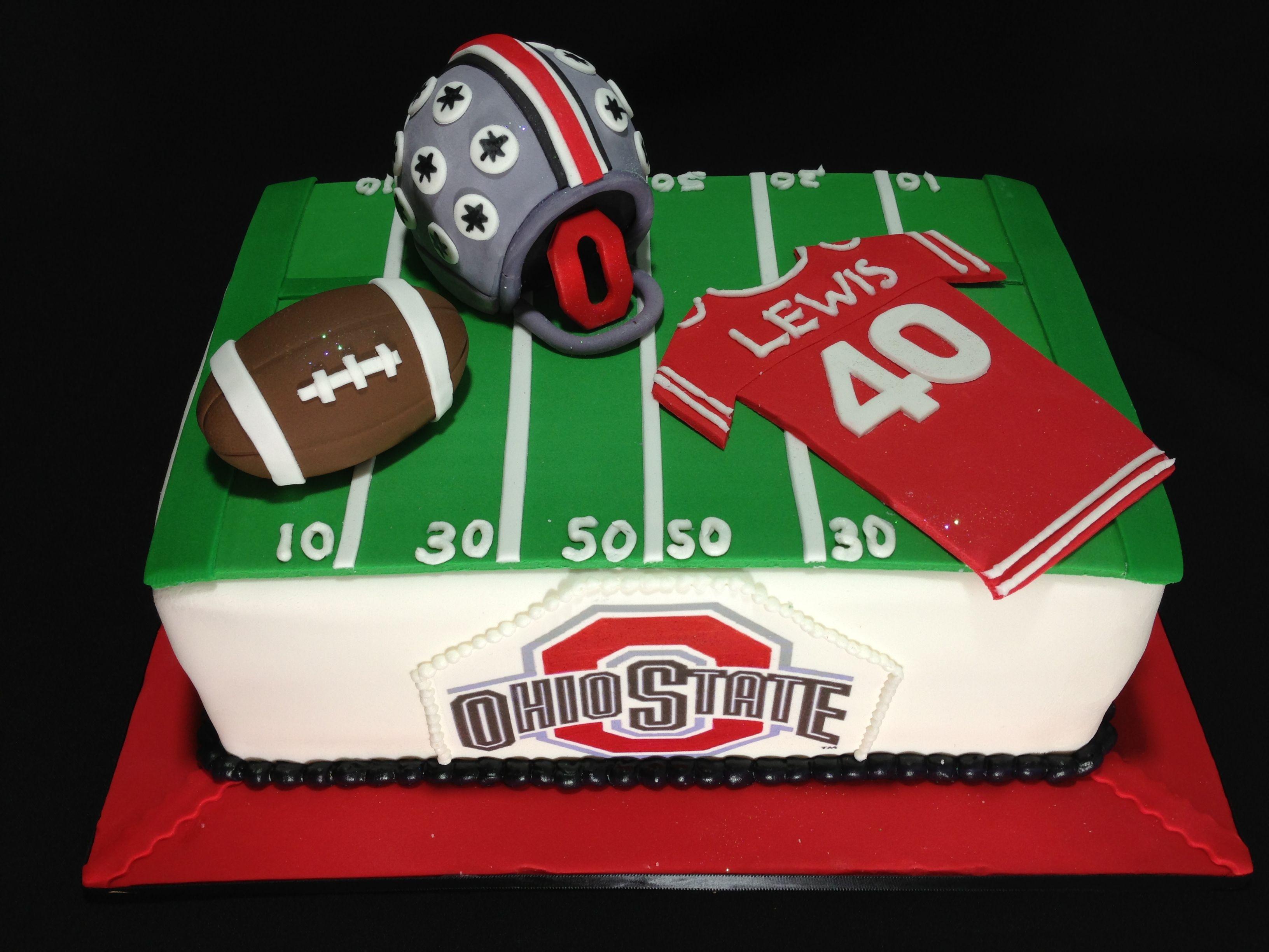 Ohio State Football Cake Ohio State Cake Cake Pop Decorating
