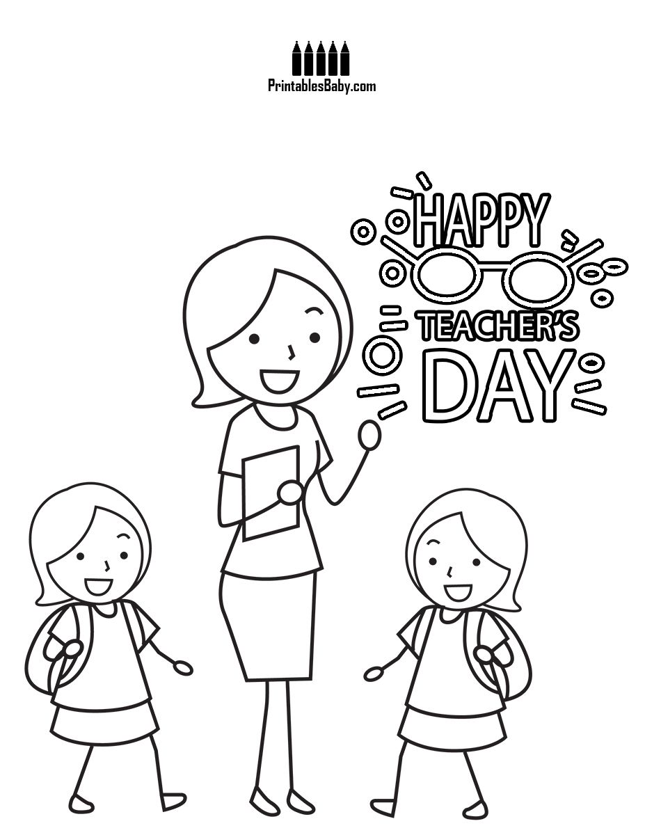 My Teacher Printables Baby Free Printable Posters And Coloring Pages Happy Teachers Day Coloring Pages Free Poster Printables