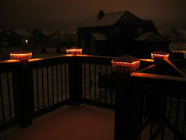 Lighted post caps deck lights by moonlight decks deck lighting lighted post caps deck lights by moonlight decks aloadofball Images