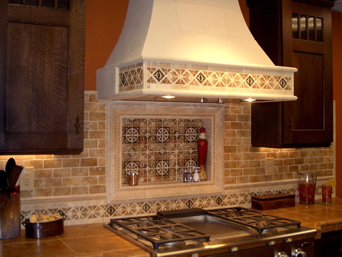 Kitchen Ideas Decorative And Contemporary Kitchen Ideas With Wallpaper Tile Backsplash And Combined Small Wall