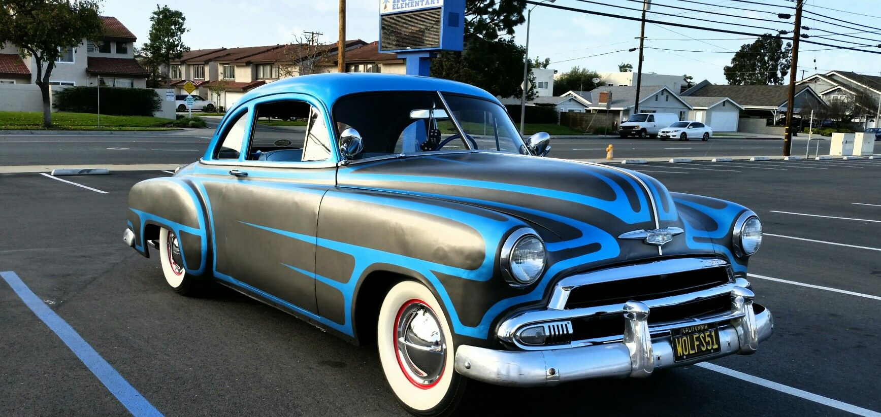 Coupe 1951 chevy sport coupe : 1951 chevy coupe with scallops and metal flake roof | 49 - 52 ...