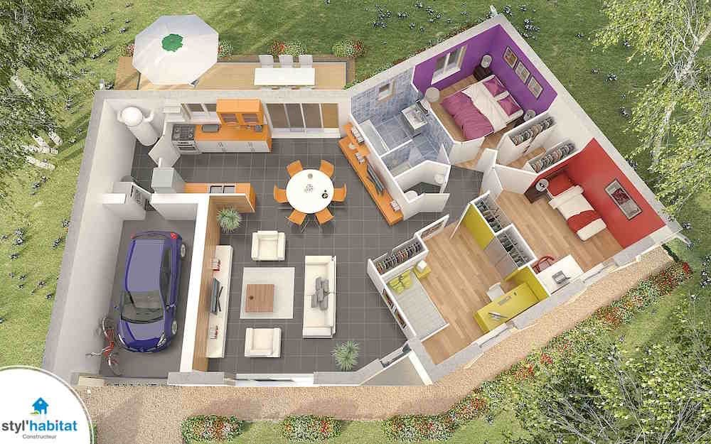 Superbe Maison En V A Tout Petit Prix Prix Construction Maison Maison En V Plan Maison