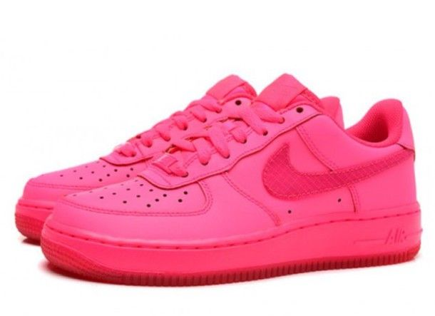 release date 34f23 ee095 shoes hyper pink nike shoes air force ones pink shoes nike air force 1