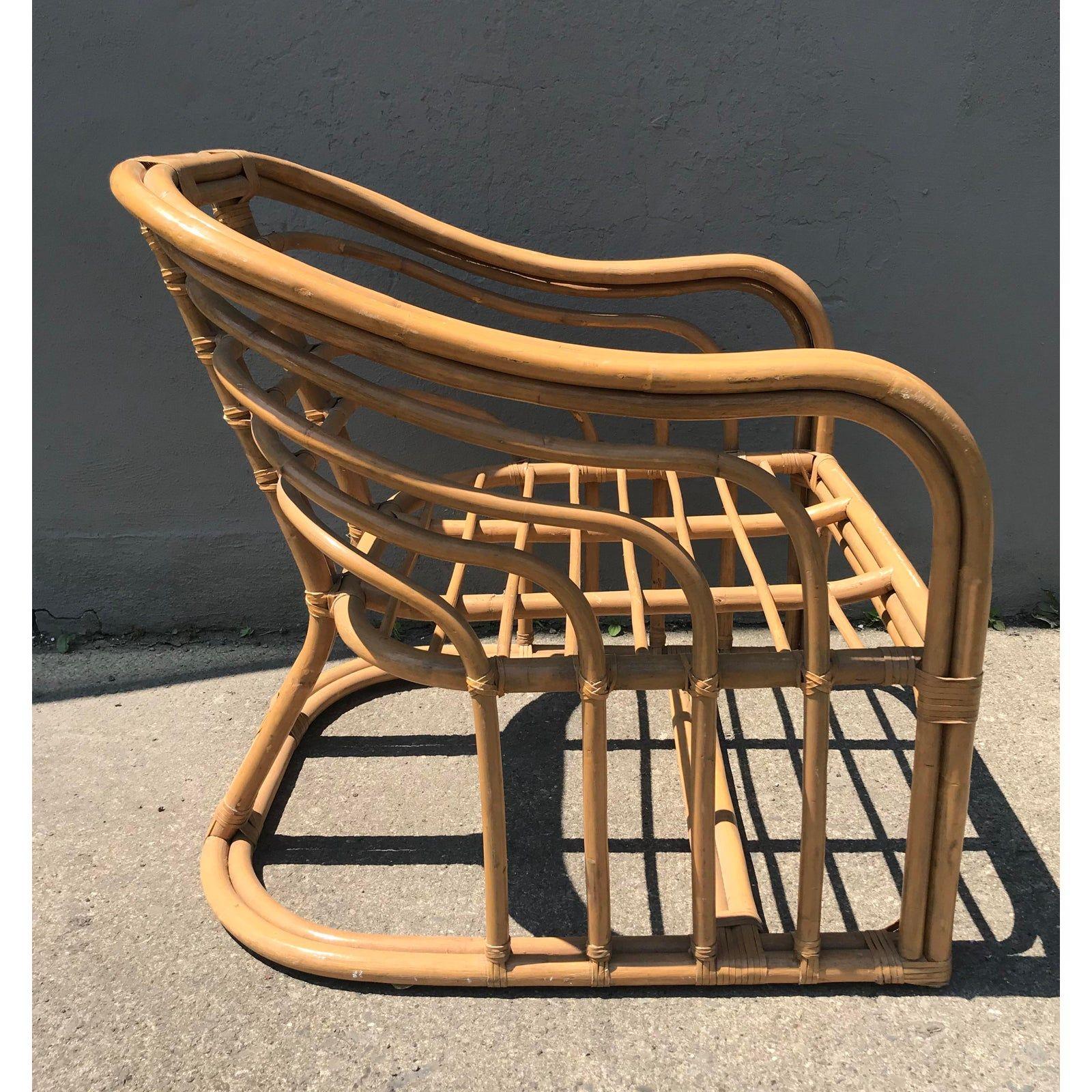 1970s vintage rattan lounge chair chairish lounge