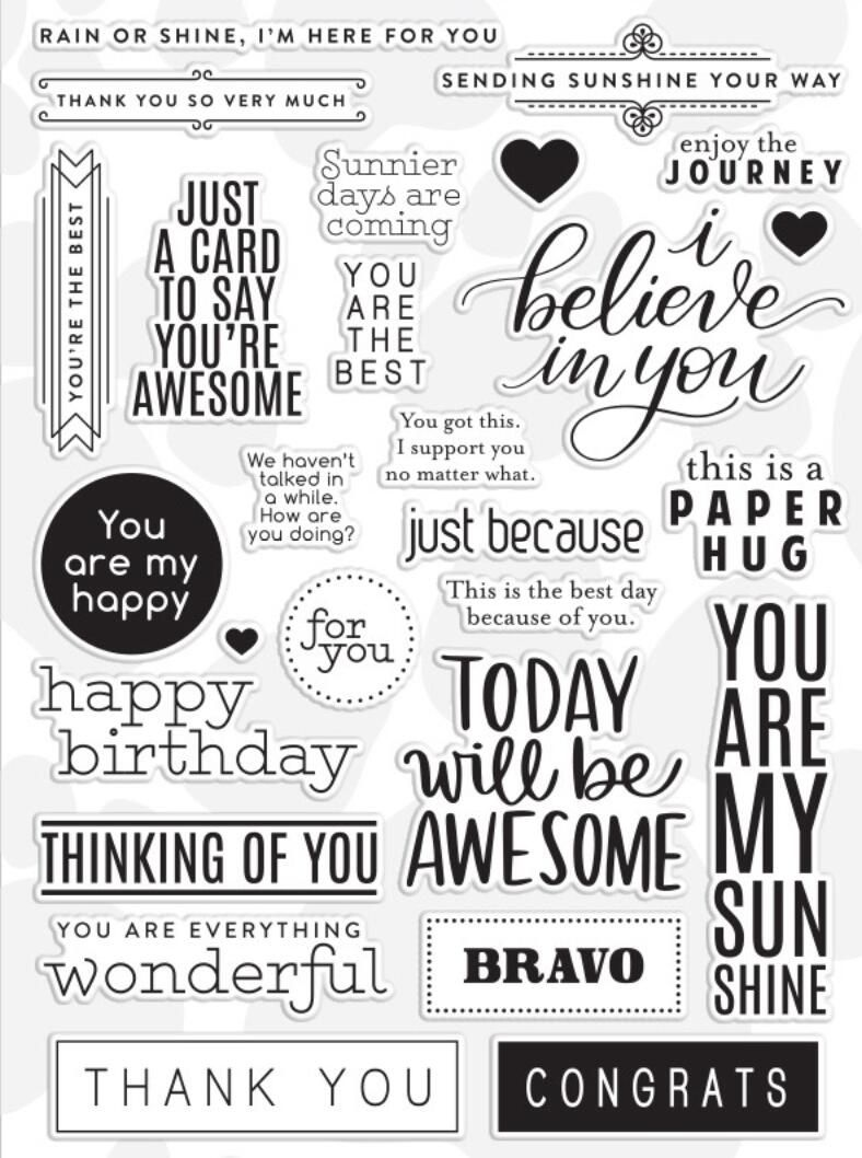 Clear Stamps Words Craft Happy for Card Making Decoration and DIY Scrapbooking