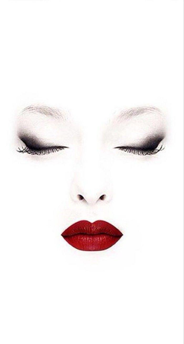 Pin By Kerstin Posner On Zeichnungen Smokey Eye Red Lips