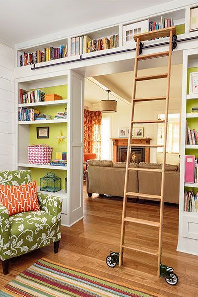 14 Incredible Home Library Ideas For Organizing Bookshelves And Incorporating Sliding Ladders