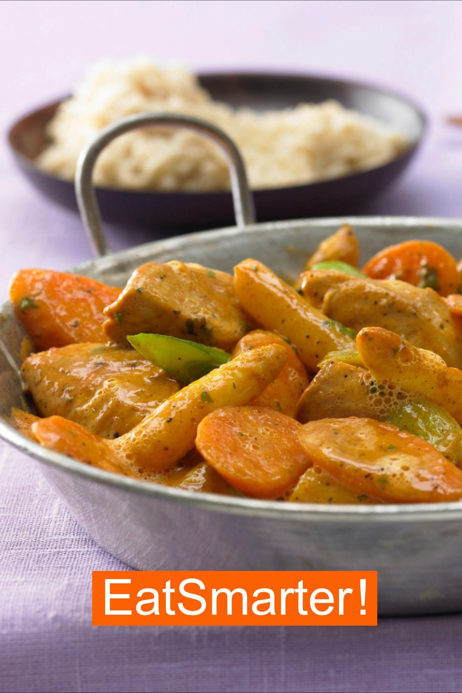 Rezept für Hähnchen-Spargel-Pfanne | EAT SMARTER