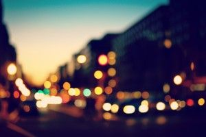 Bokeh Lights Sunset City Blur Hd Wallpaper With Images City