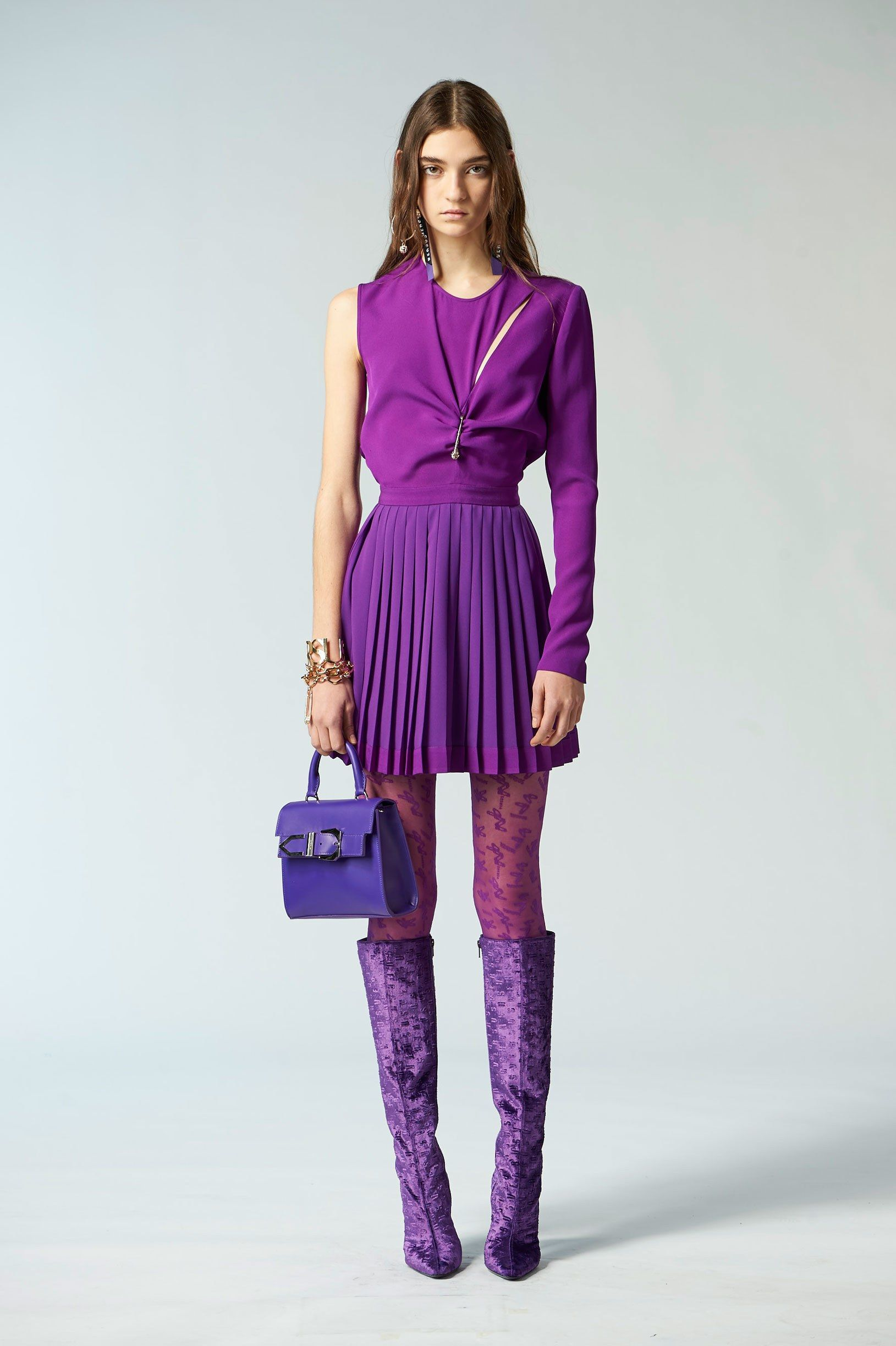 Leather Statement Clutch - The Ultra Violet Trend by VIDA VIDA OYaCqNus8x