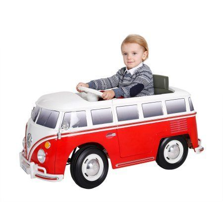 Rollplay 6v Vw Bus Battery Powered Ride On Walmart Com Extra S
