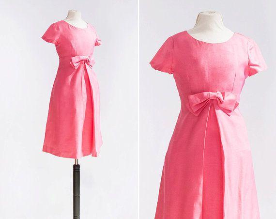 60s Bradshaw Dress  •  1960s silk dress