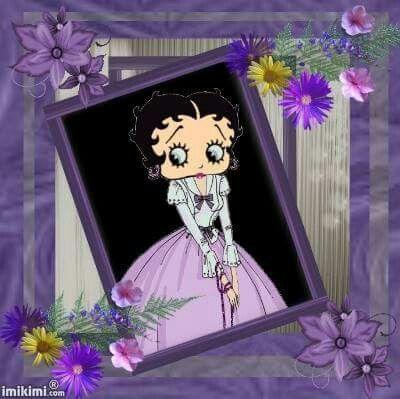 Betty in purple & flowers