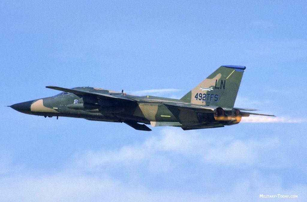 F-111 Aardvark bomber taking off