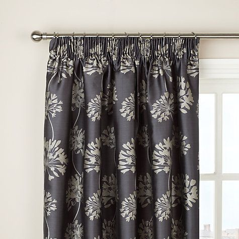 Buy John Lewis Whisper Allium Lined Pencil Pleat Curtains Online - John lewis curtains grey