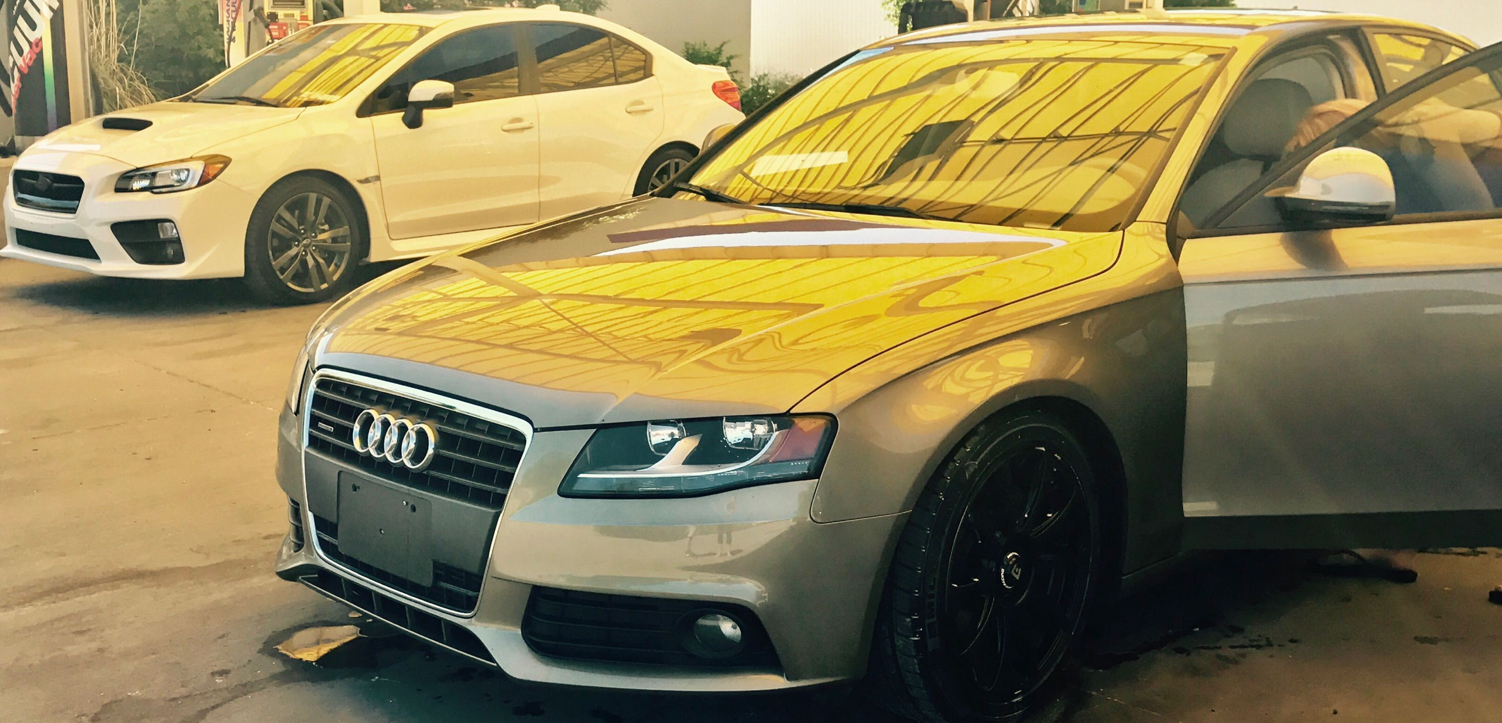 I love my Audi And I love taking it to the car wash