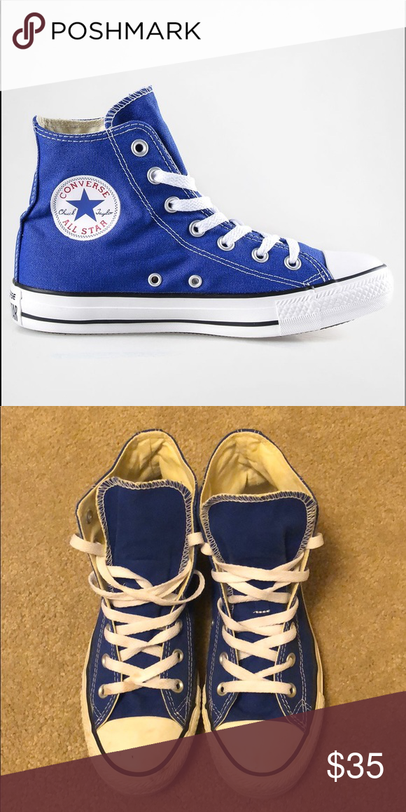 Women's High Top Blue Converse Lightly Used Converse Shoes