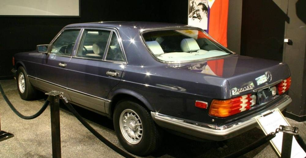 1988 mercedes benz 500 sel head of state car previously owned by dictator of the philippines. Black Bedroom Furniture Sets. Home Design Ideas
