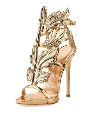 f27cc2771adf7 Giuseppe Zanotti Coline Wings Suede 110mm Sandals | Products ...