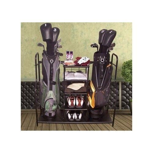 SportsStorage Rack Equipment Bags Golf Balls Clubs Shoes