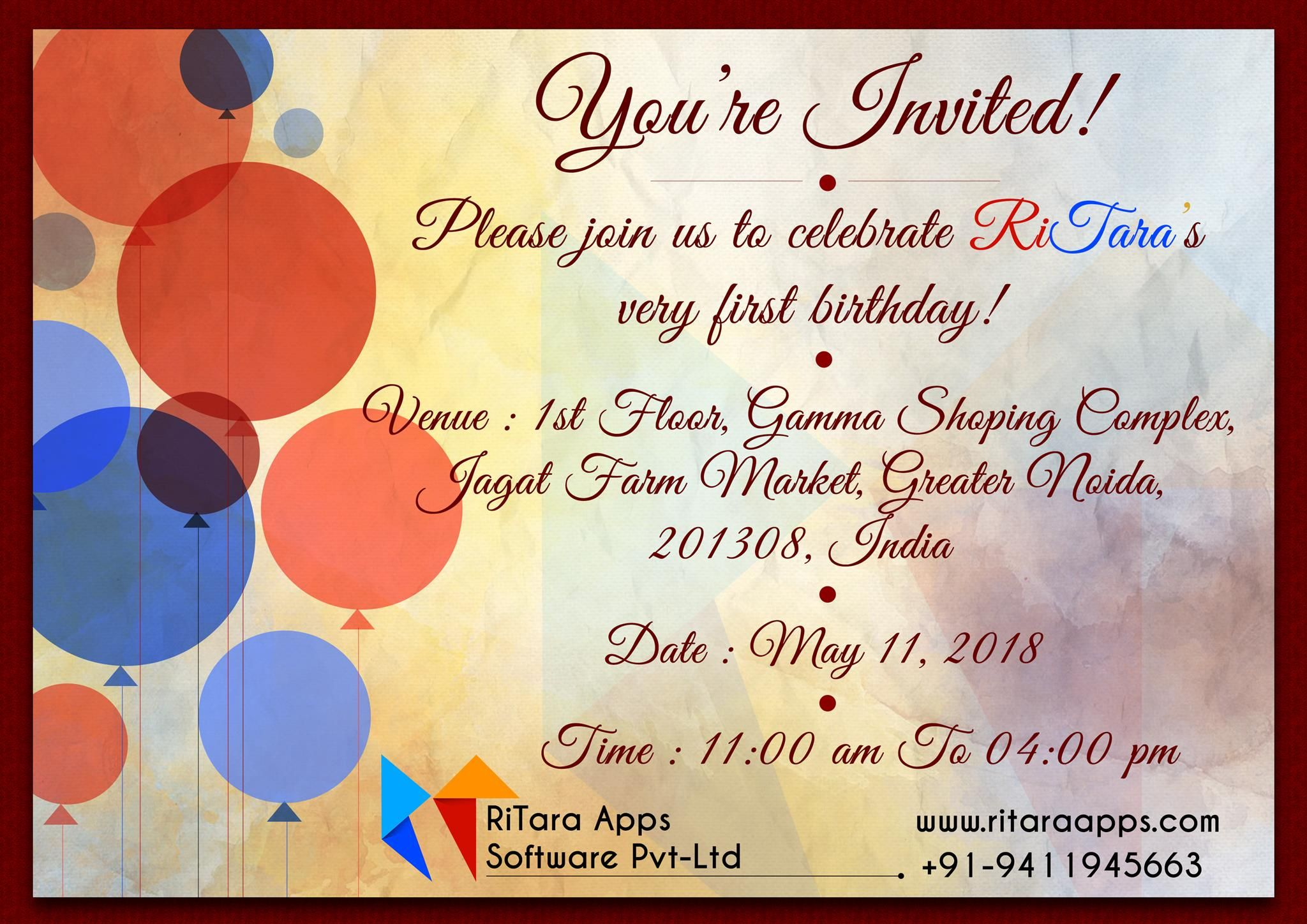 RiTara Apps cordially invites you all to join us on our
