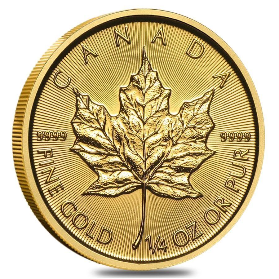 2015 1 4 Oz Canadian Gold Maple Leaf 9999 Fine Gold Maple Leaf Gold Gold Bullion Coins Gold Coins