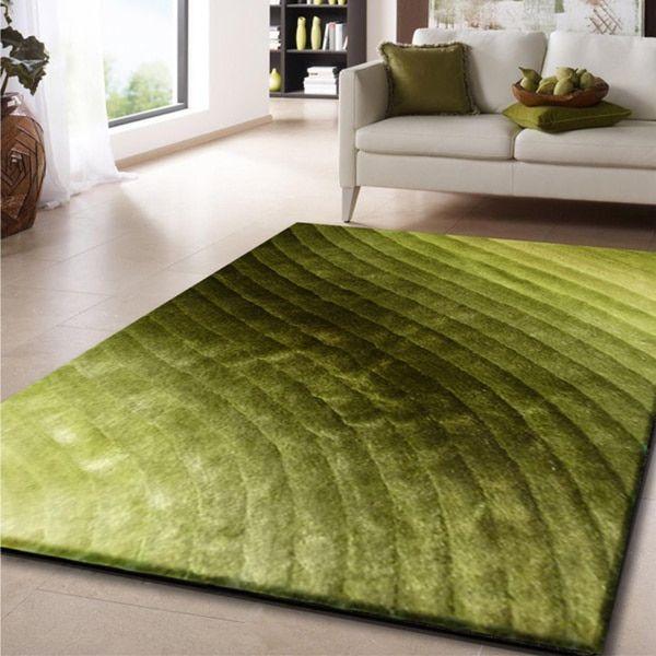 rug addiction 5u0027 x 7u0027 green shag area rug hand tufted 5x7 size 5u0027 x 7u0027 polyester abstract - 5x7 Rugs