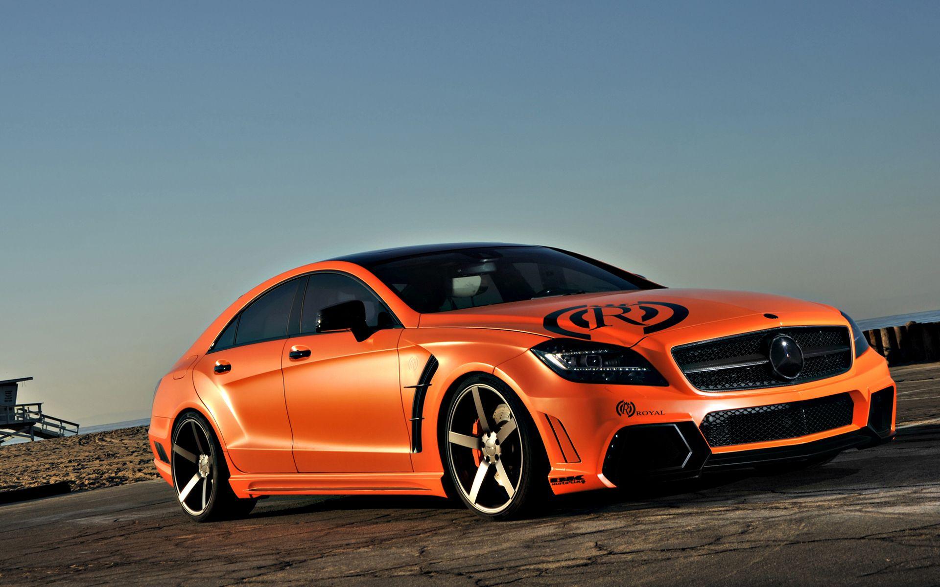 Orange Cars Wallpaper Of Car A Orange Royal Benz On The Road