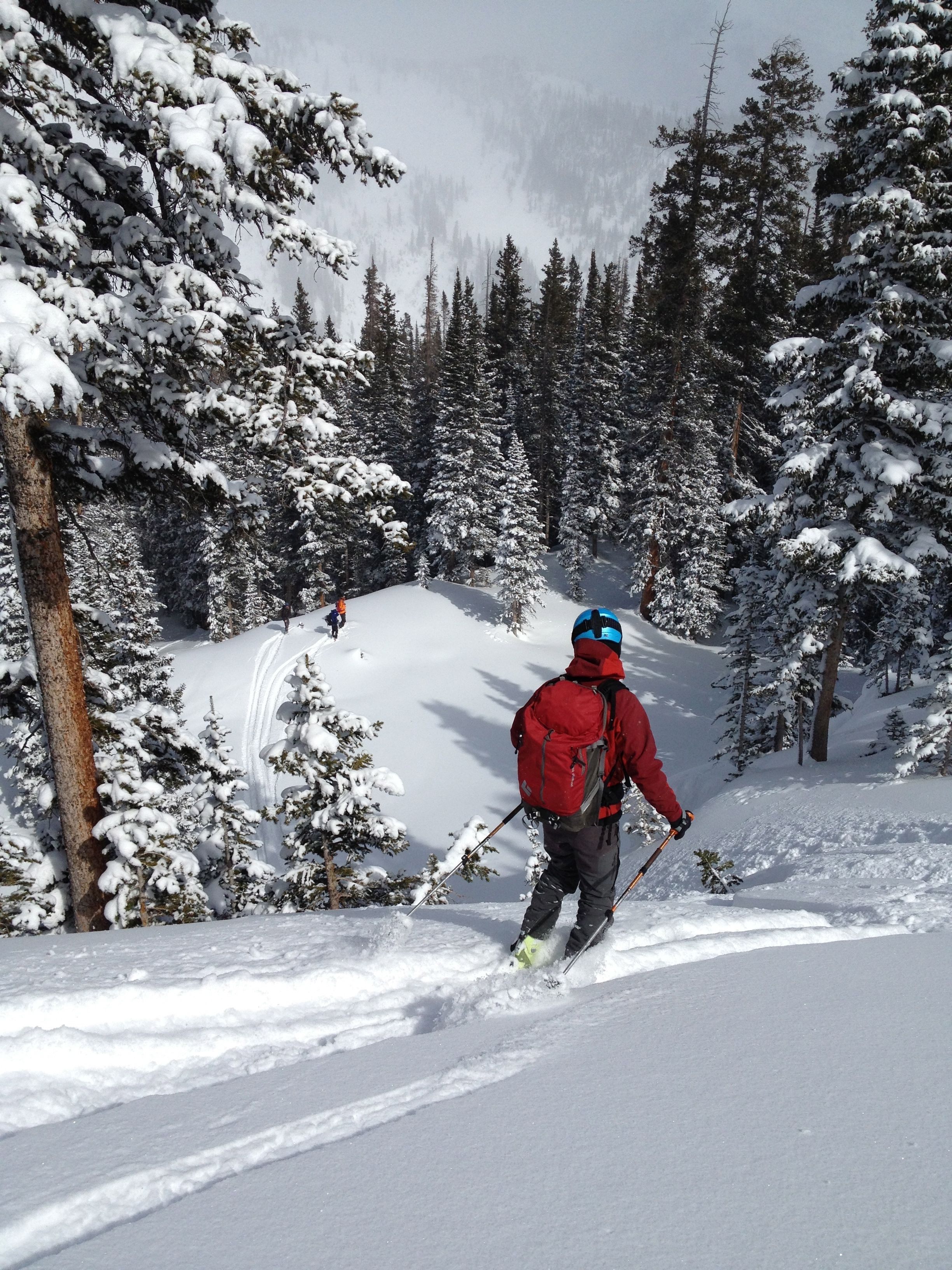 Backcountry skiing near Crested Butte