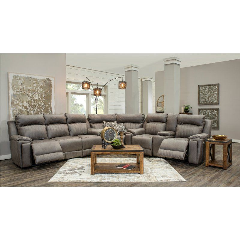 Graphite Gray Standard Power Reclining Sectional Sofa Silver Screen Rc Willey Furniture S In 2020 Reclining Sectional Sectional Sofa Power Reclining Sectional Sofa #rc #willey #living #room #furniture
