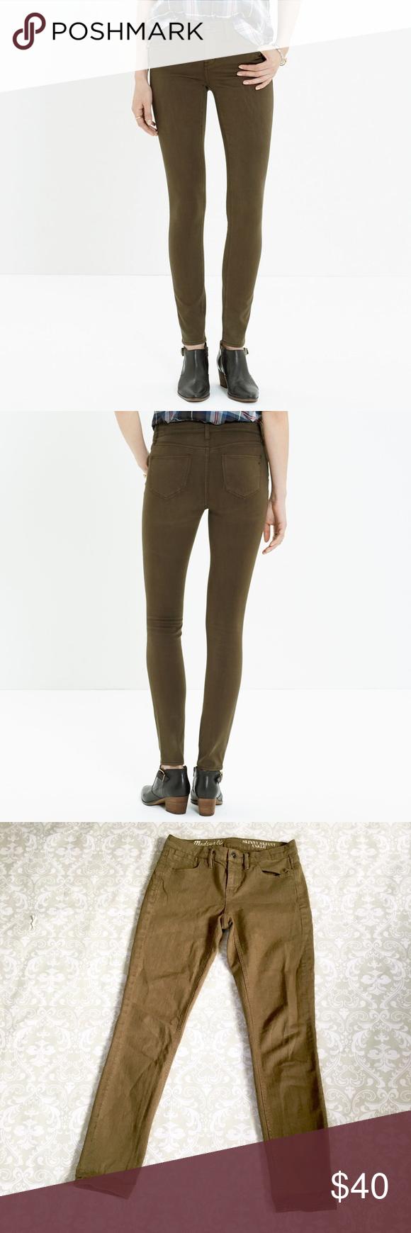 Madewell skinny olive jeans Madewell skinny skinny olive jeans. Size 26 Madewell Jeans Skinny
