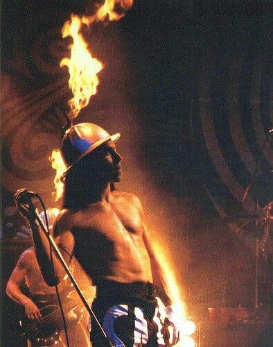 Vintage Anthony Kiedissir Psycho Sexy Fire Hat Vintage Anthony
