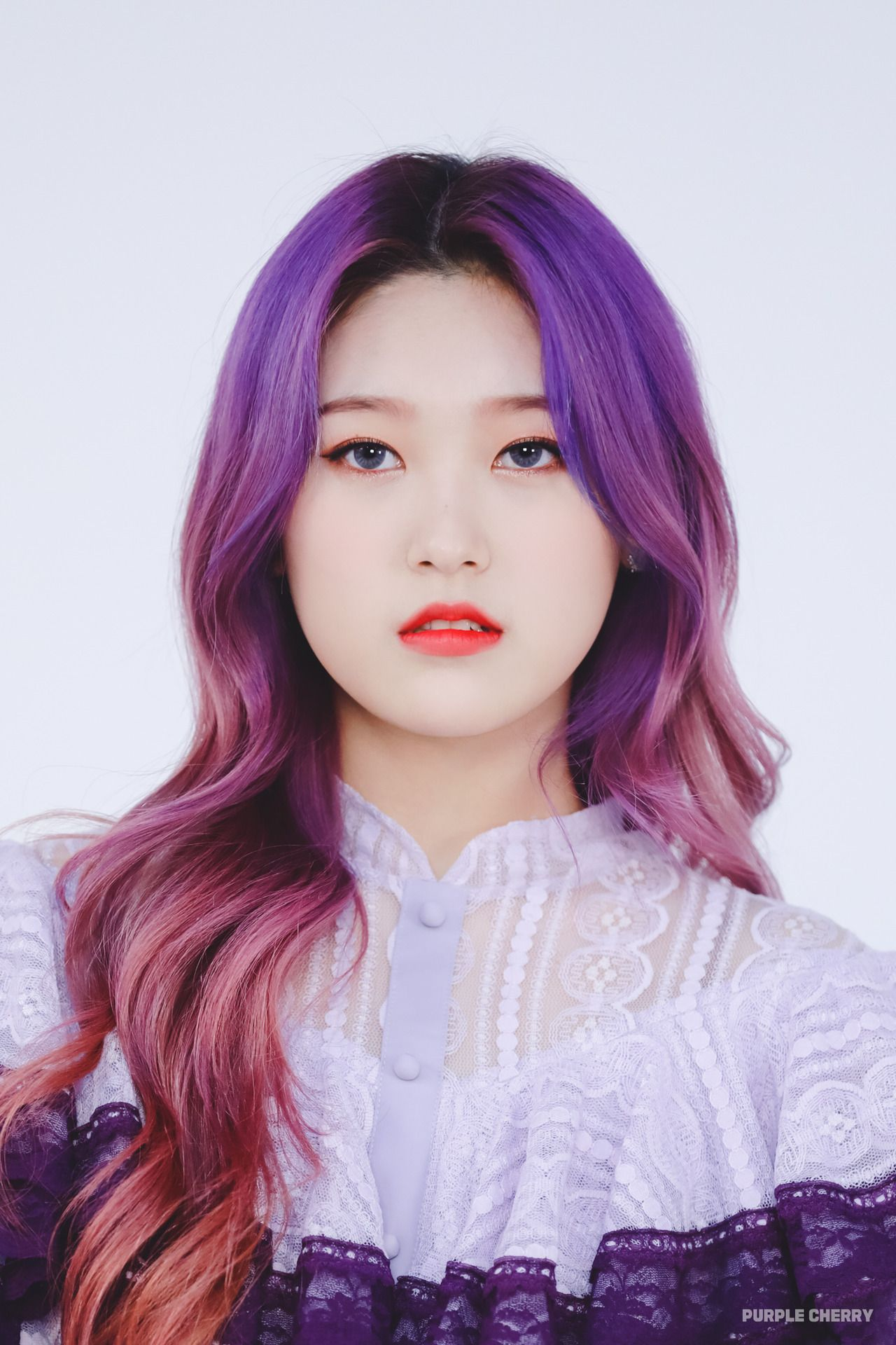 Pin By J3ss3 On Choerry Girl With Purple Hair Purple Hair Hair Icon
