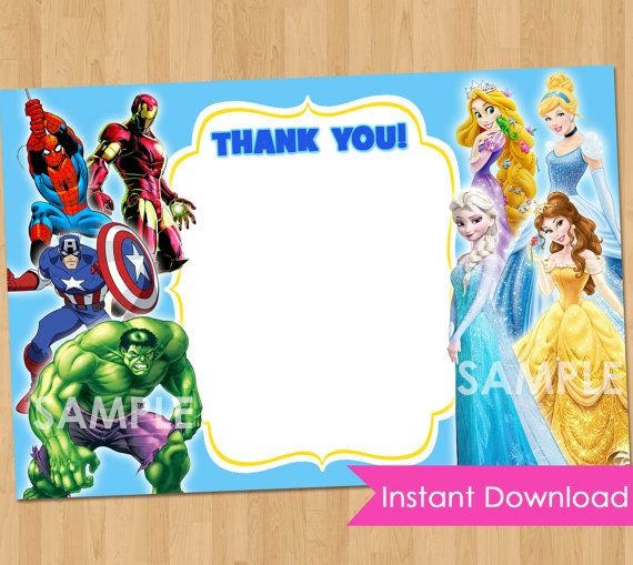 Princess And Superhero Party Invitation Template 8