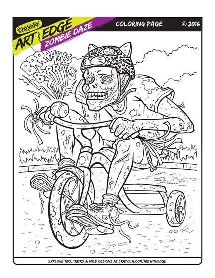 Art With Edge Zombie Daze Trial Page Coloring Books Flag Coloring Pages Coloring Pages
