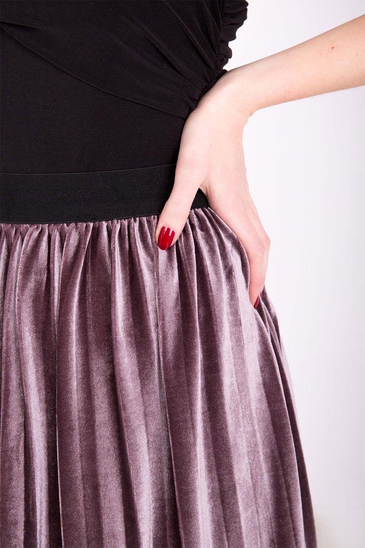 a196af80f9ae Fialová stredne dlhá plisovaná sukňa