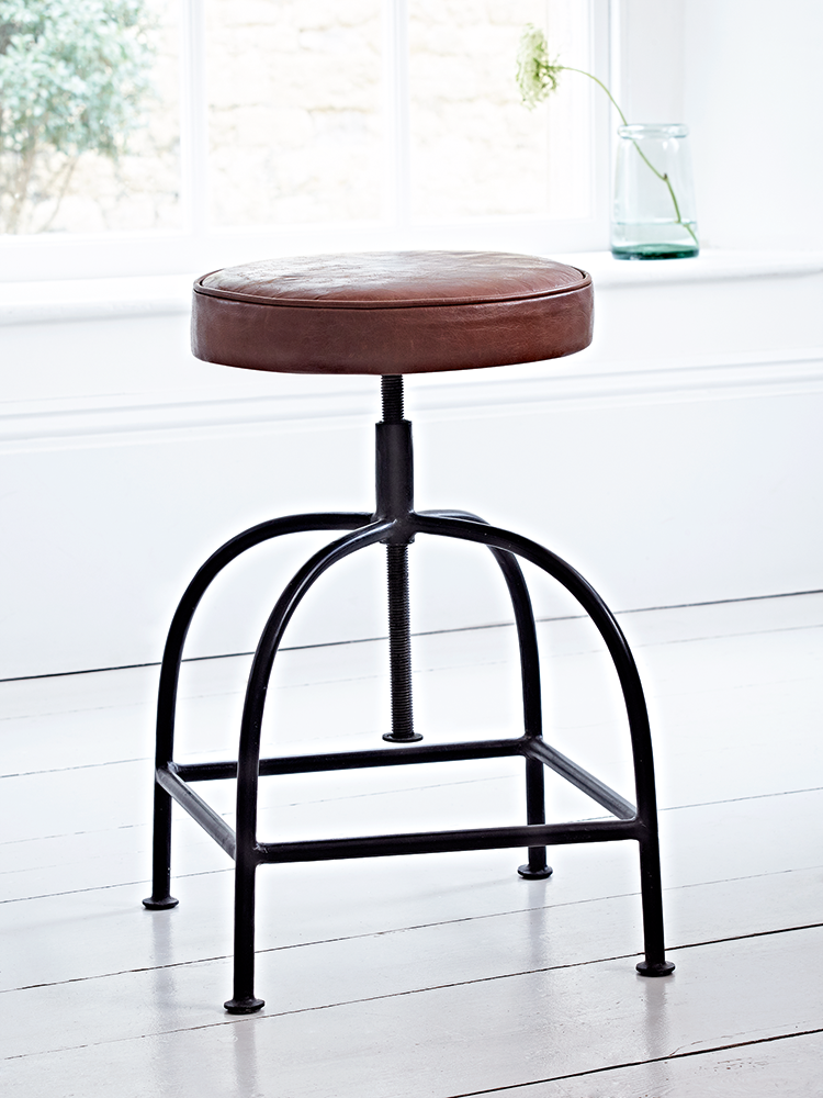 NEW Leather Twist Stool - Stools, Chairs & Benches - Furniture ...