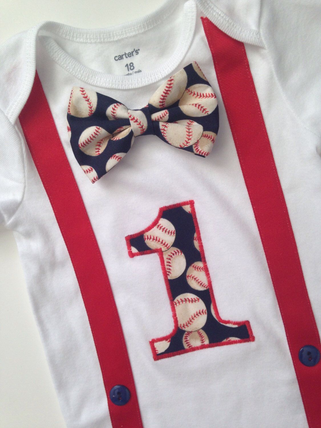 Baseball First Birthday Onesie, Boys 1st Birthday