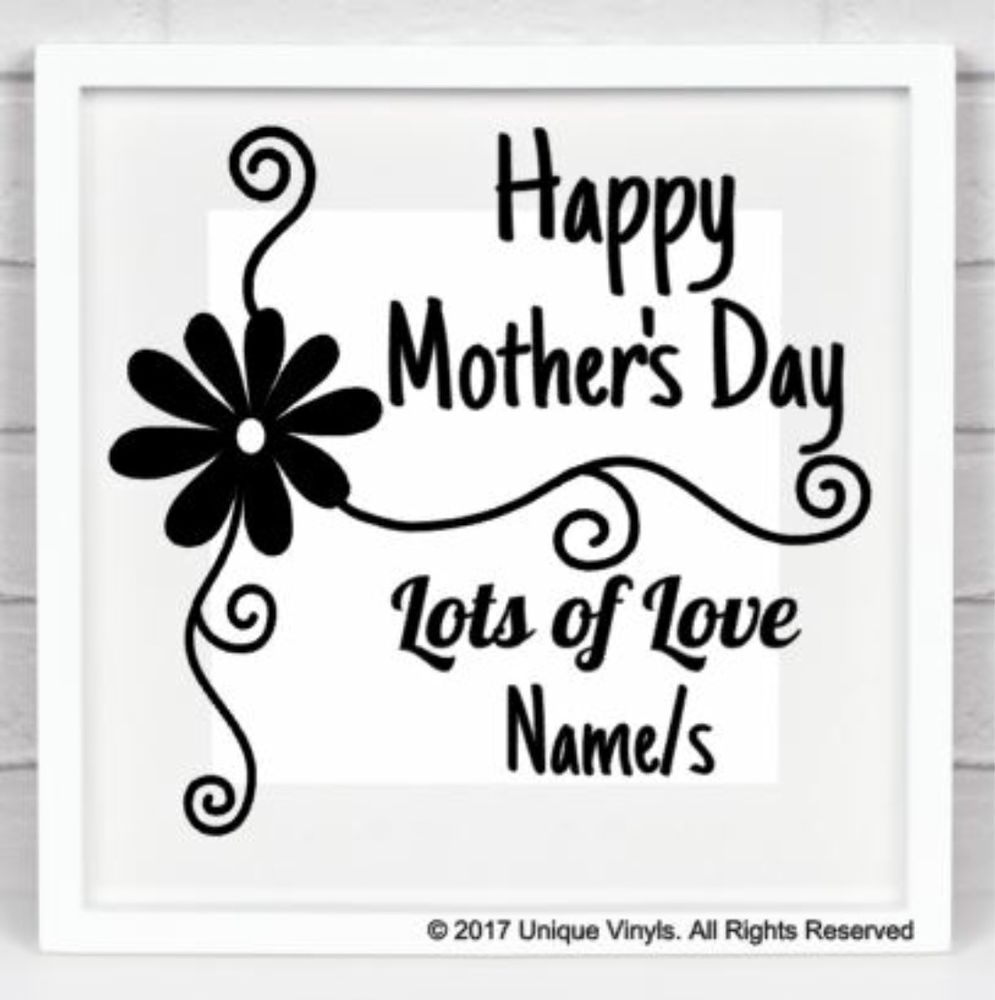 Personalised Sticker Details About Happy Mother S Day Vinyl Sticker For Box Frame