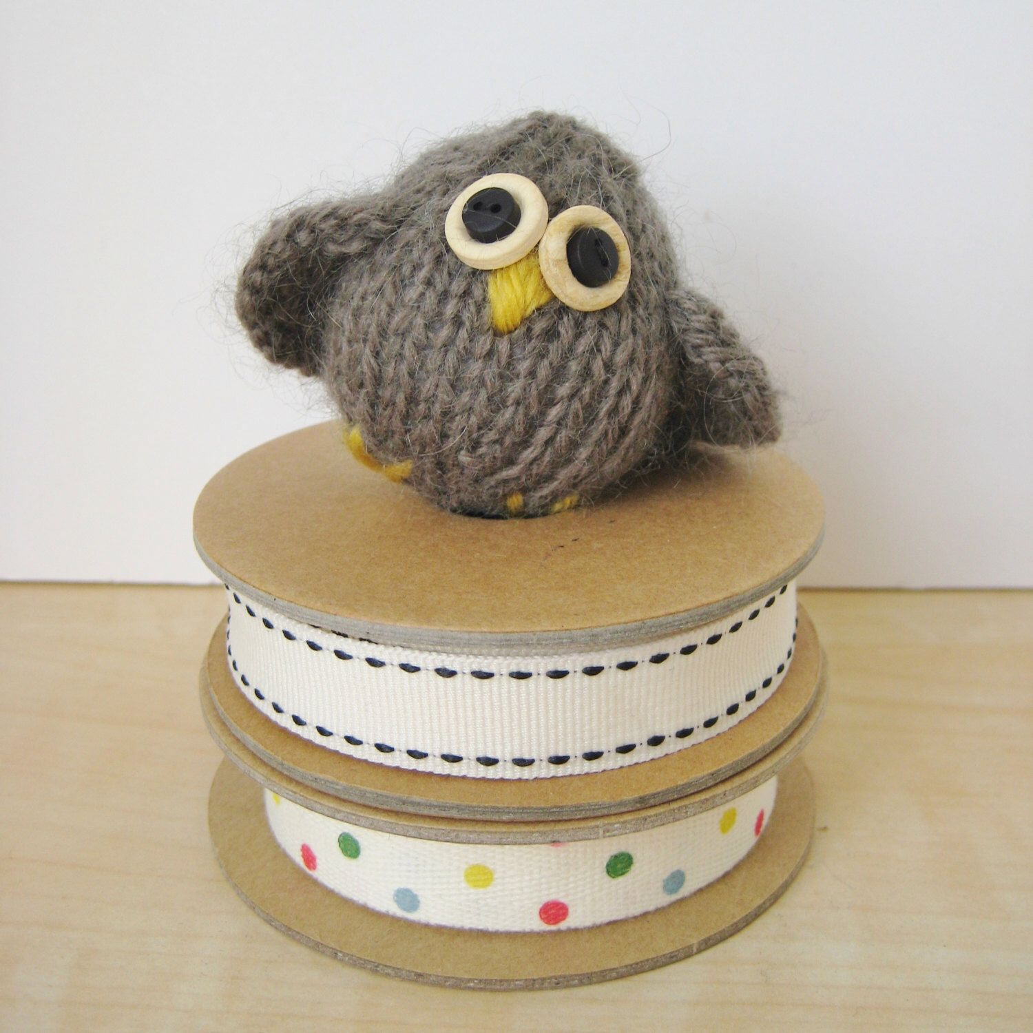 Little Owl toy knitting pattern by fluffandfuzz on Etsy ...