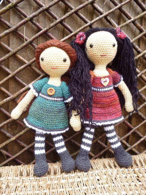 ♡ Emily Doll Amigurumi crochet pattern. by mojimojidesign on Etsy